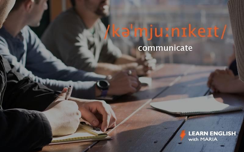 communicate in English
